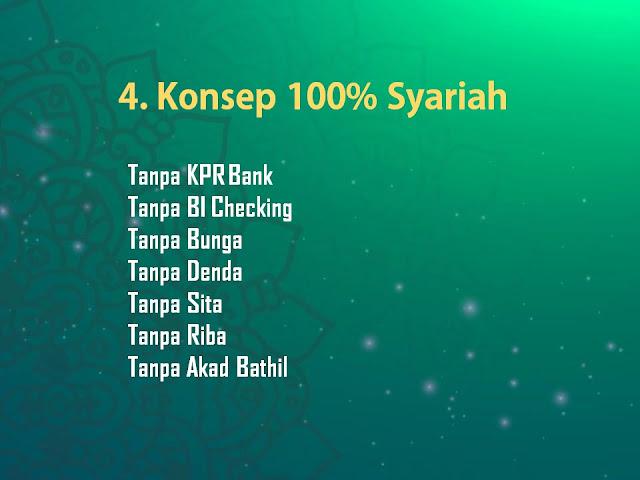 Konsep di Kampung Buah Cikalong 100% Syariah