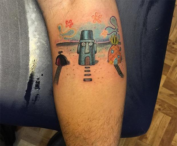 tatuagens do desenho Bob Esponja