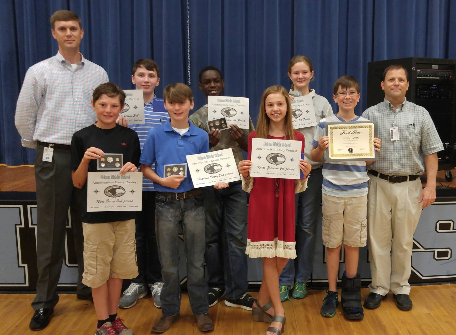 americanism essay winners Five middle school students from saint andrew's episcopal school have been recognized for their exceptional writing in the 2016-2017 fleet reserve association's (fra) americanism essay contest sponsored locally by fra branch 101 svc, more than 400 students from across the santa clara valley submitted essays.
