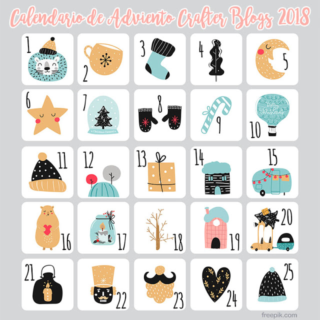 Jen's Calendario Adviento Crafter Blogs 2018