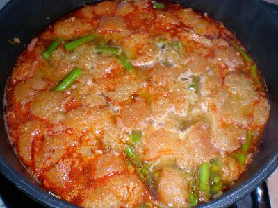 Sopa de esparragos verdes la cocinera novata receta cocina gastronomia pobres economica vegetariano vegano bajo en calorias
