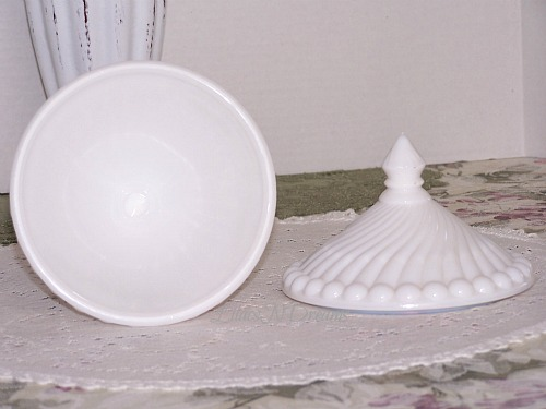 Lilacsndreams Shoppe Westmoreland White Milk Glass Candy Dish