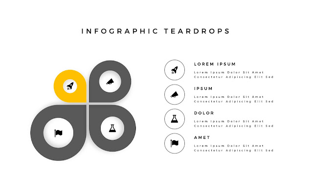 Infographic Teardrop elements for PowerPoint Slide 4