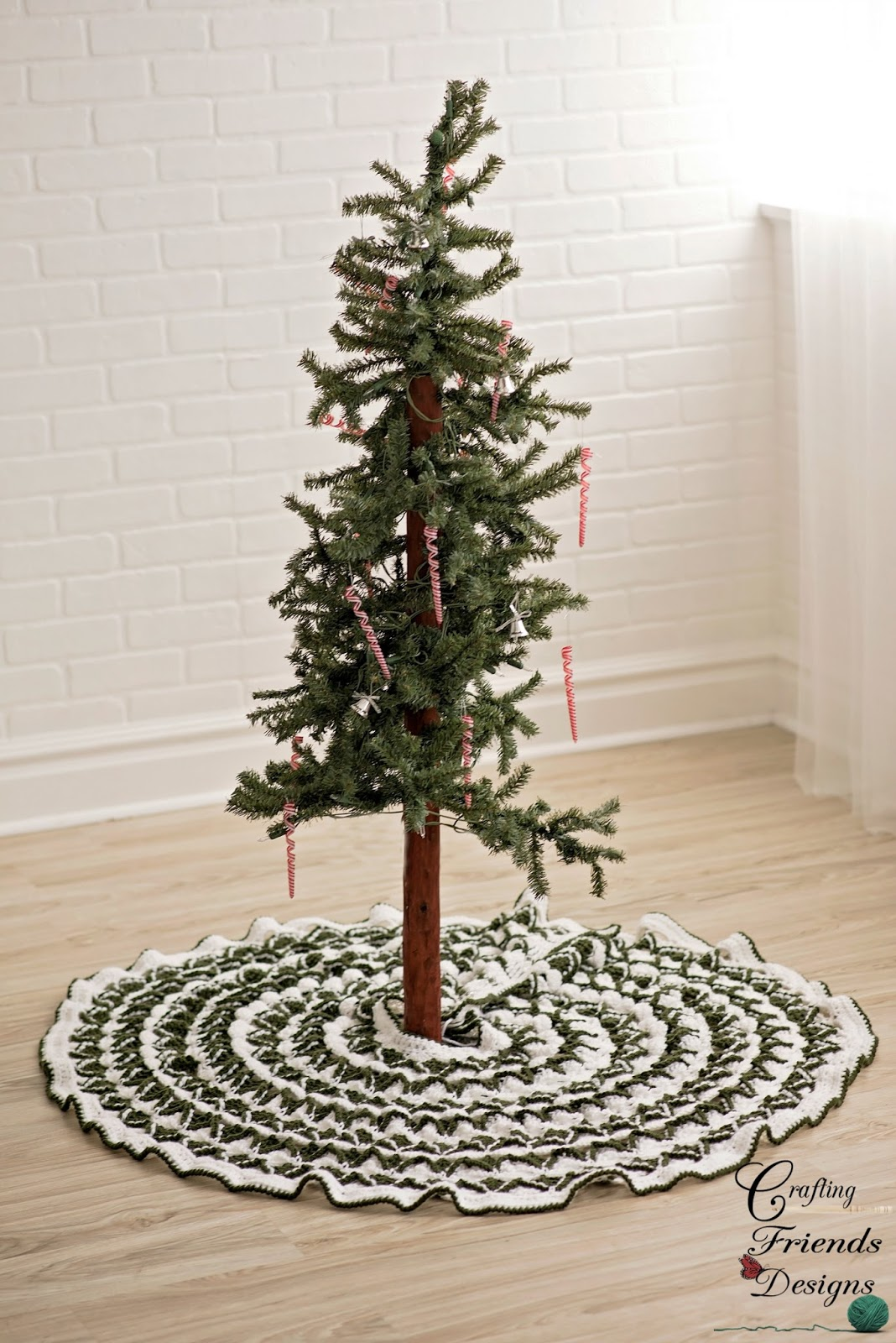 Crafting Friends Designs Christmas Pine Tree Skirt Free Crochet Pattern