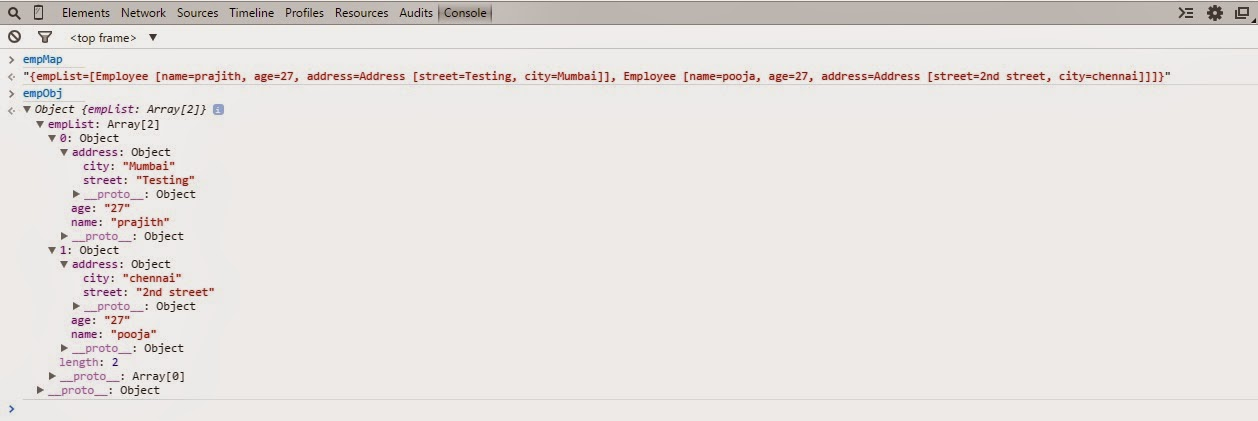 Java Technical: Converting Java object into JavaScript object