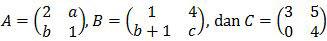 Matriks A, B, dan C, soal Matematika SMA-IPS UN 2017 no. 16