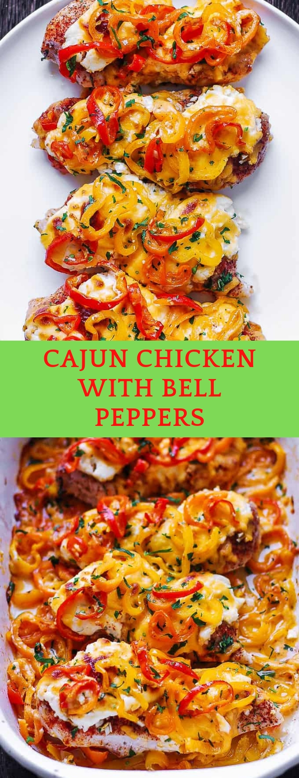 CAJUN CHICKEN WITH BELL PEPPERS #CAJUN #CHICKEN