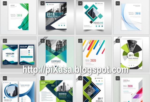 1500 Template Cover Laporan Format Vector Gratis Pixasa