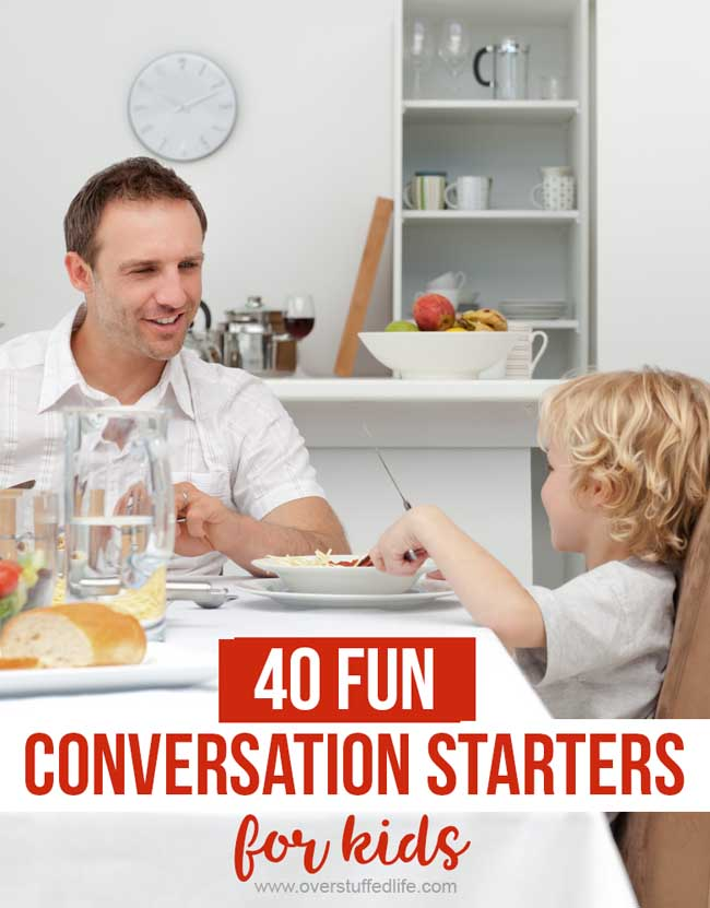 Looking for a fun way to start conversations with your kids while in the car, at dinner, or any other time? Try these fun conversations starters and get to know your kids better!