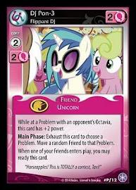 My Little Pony DJ Pon-3, Flippant DJ The Crystal Games CCG Card