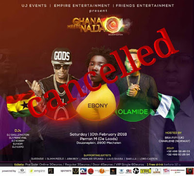 Ebony's Death : Organizers Cancel Ghana Meets Naija Belgium Edition