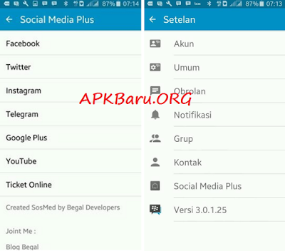 BBM Mod Plus Sosmed 8 in 1 Versi 3 Final Apk Base 3.0.1.25