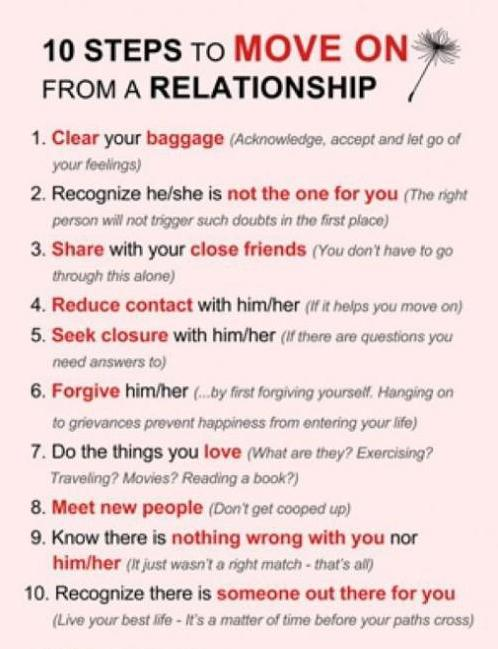 10 Steps to Move on from a Relationship Image on Social ...