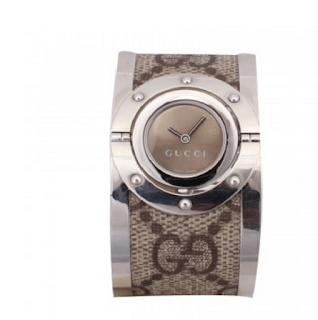 GUCCI Stainless Steel Monogram Large Twirl Watch