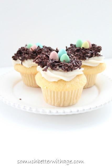 Bird's nest cupcakes | somuchbetterwithage.com