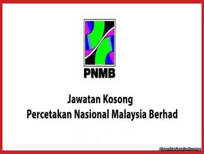 Iklan Jawatan Kosong Percetakan Nasional Malaysia Berhad (PNMB) (2-21 Mac 2018)