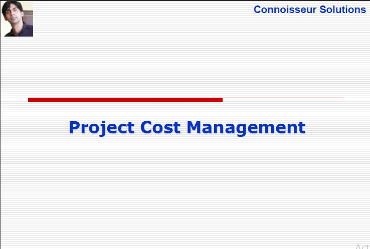 Project cost management PMBOK 5th Edition - ENGINEERING