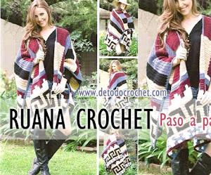 Ruana Tejida a Crochet con Patrones y Moldes / Explicación en español