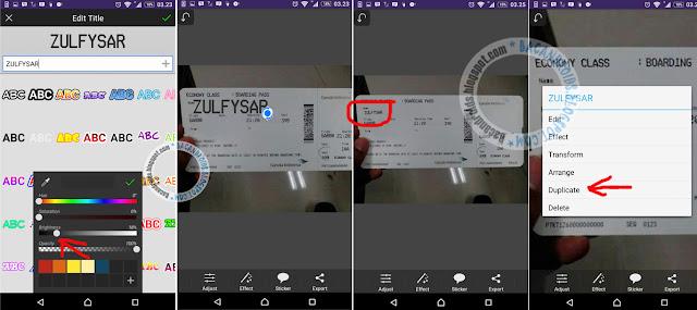 Edit Foto Membuat Tiket Pesawat Garuda