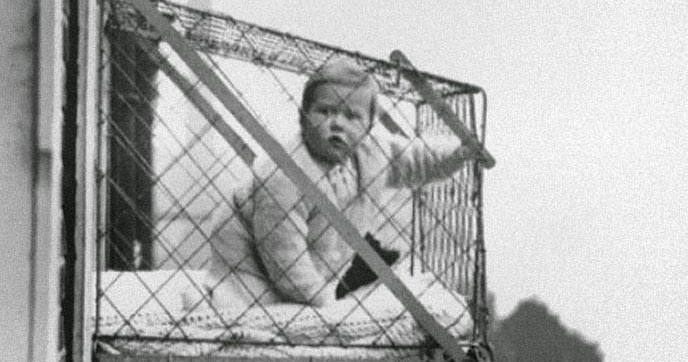 Baby Cages In An Apartment Building Ca 1937 Vintage