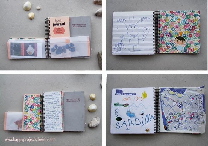 Cuaderno de viaje: diario, sobres y artbook para las peques