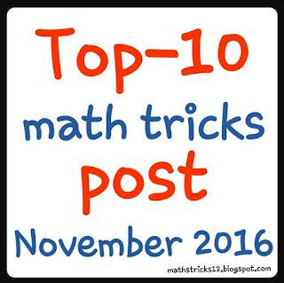 Top-10 math tricks post November 2016