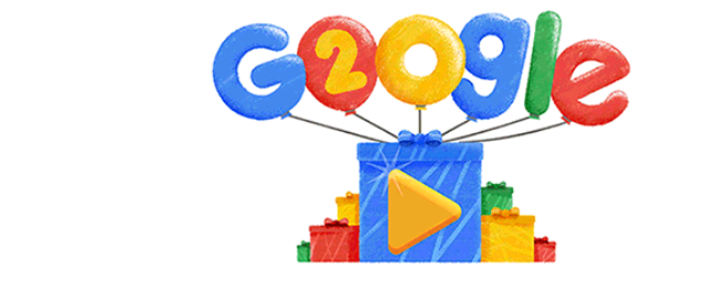 Google Doodle Search Engine Celebrates 20th Birthday