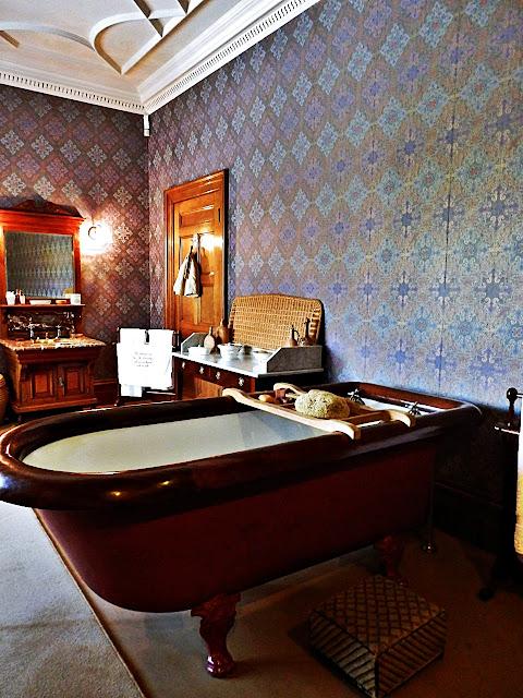 Bath time at Lanhydrock House, Cornwall