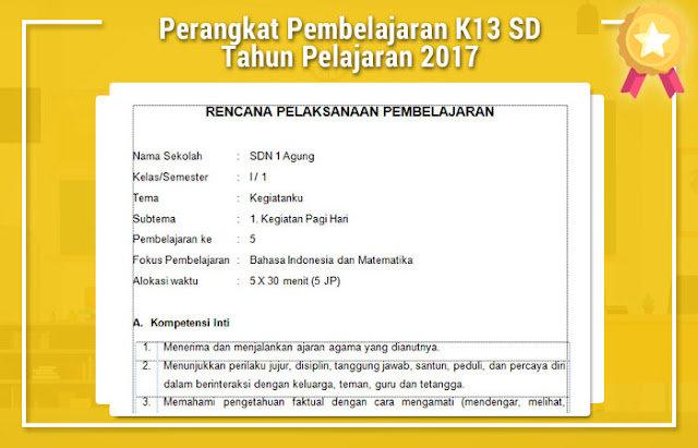 Perangkat Pembelajaran K13 SD