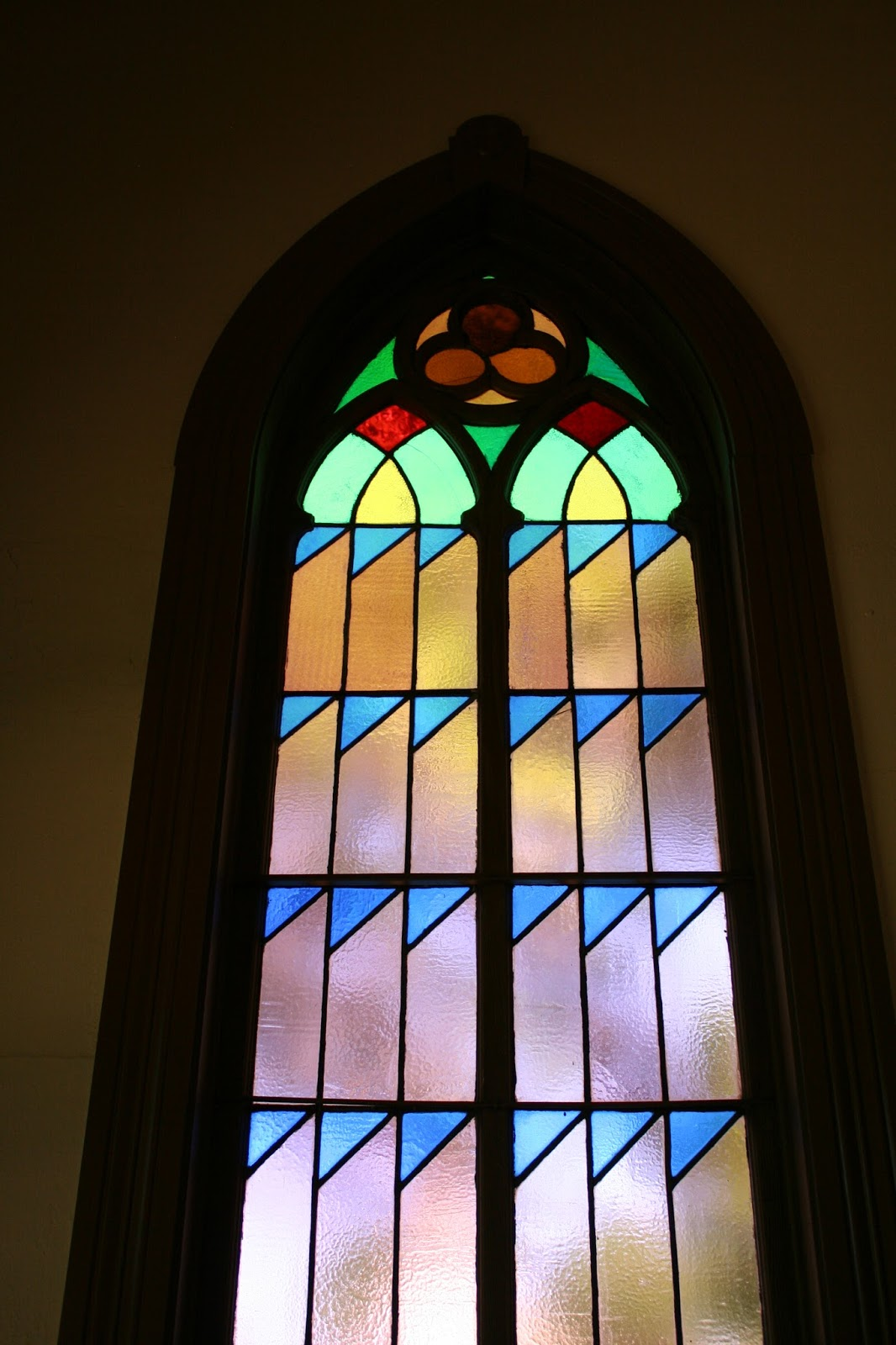 Right now I have it in a couple windows underneath the bridge to the front door. The windows are in my master bathroom. I thought they were pretty until I ... & St. Johnu0027s Church Restoration into Pease Residence