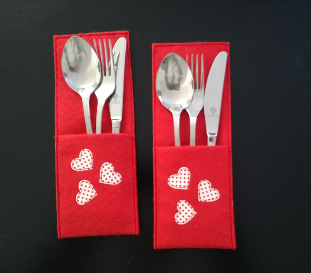 Cutlery Cover Valentine´s Day Craftrebella