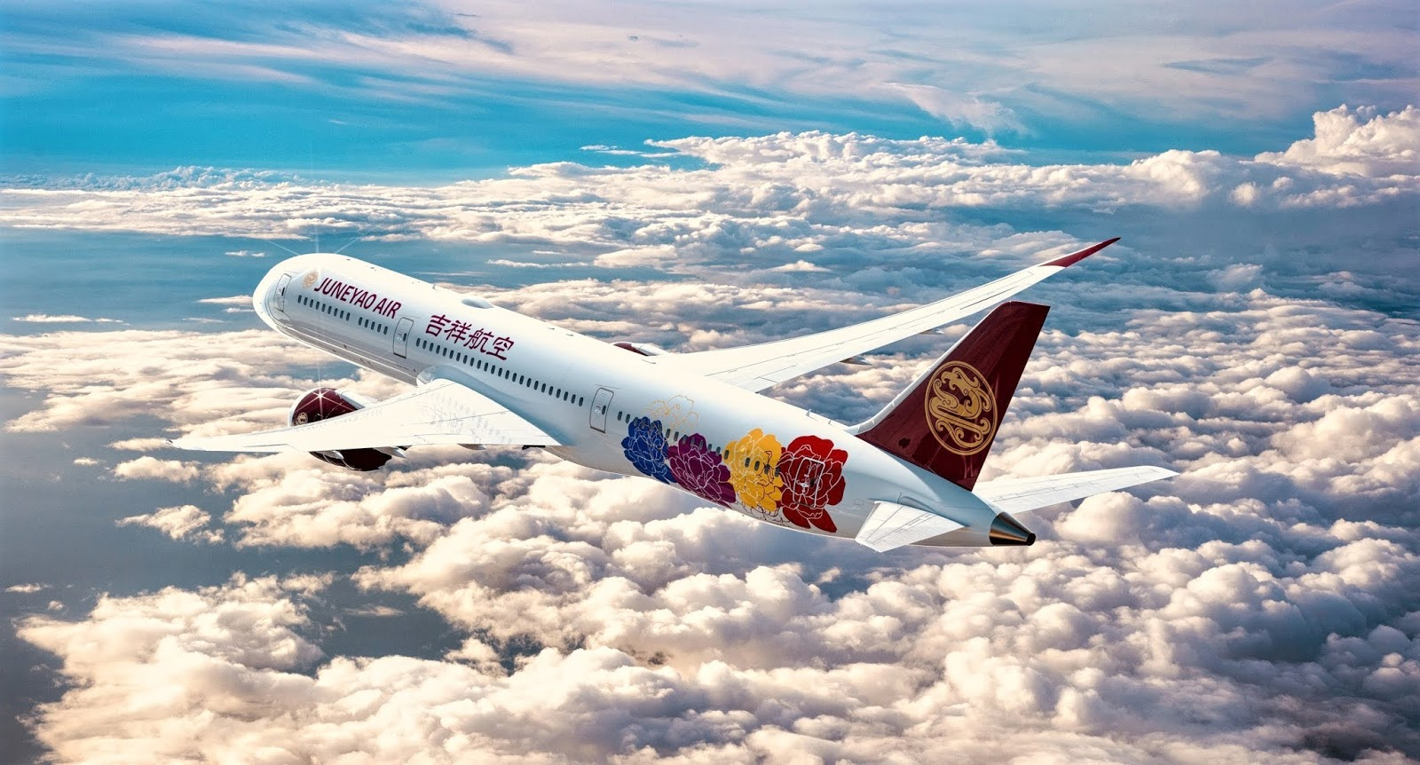 Juneyao Airlines Takes First Boeing 787-9 B-1115 September 2018 Delivery