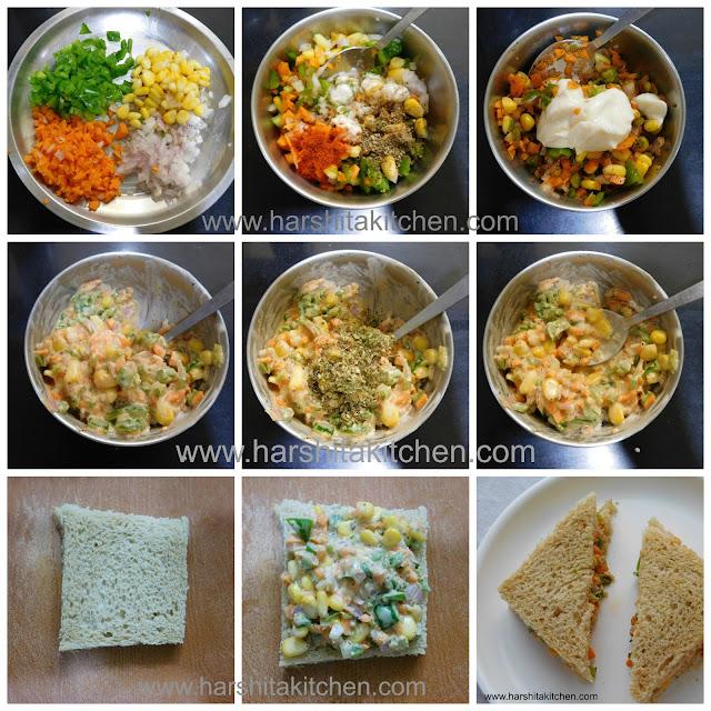 step by step mayonnaise sandwich recipes