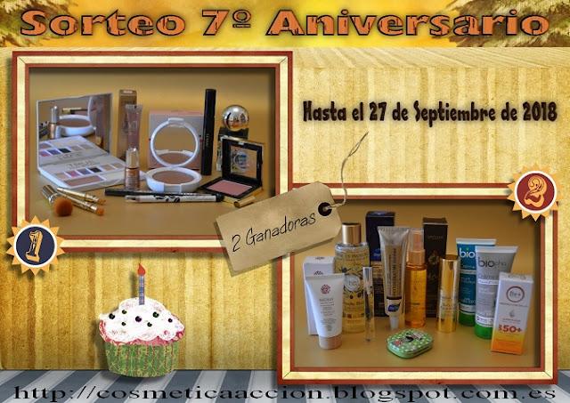 ¡3r Sorteo del 7º Aniversario del Blog – Maquillaje y Cosmética – 2 Ganadores!