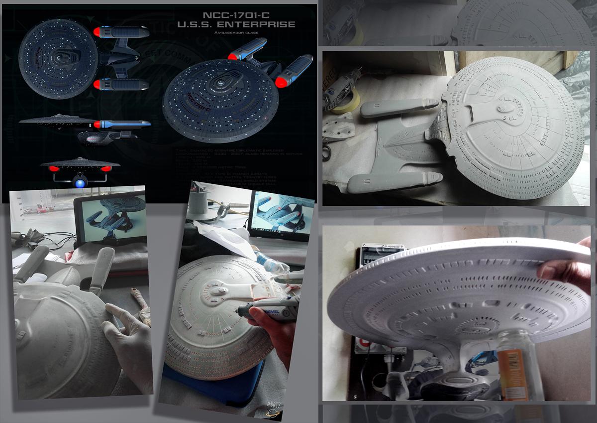 Realización de la nave NCC-1701-C U.S.S. ENTERPRISE de Star trek.