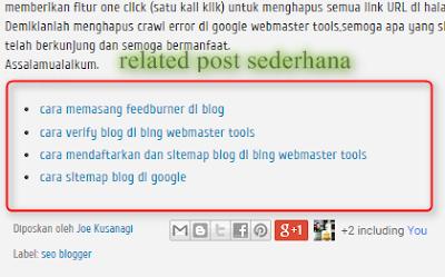 memasang related post sederhana di blog
