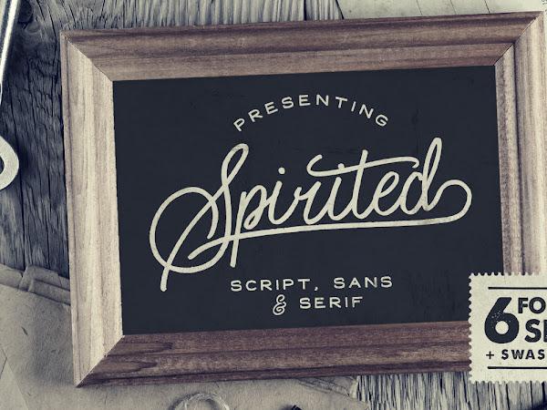 Spirited Script 6 Font Set Free Download