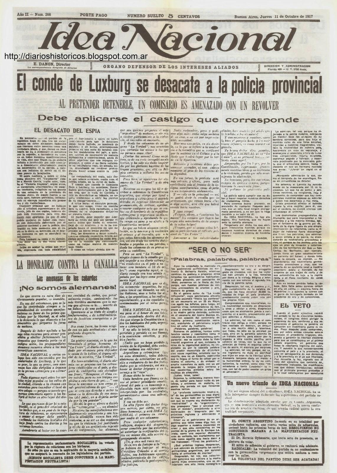 Diarios hist ricos primera guerra mundial 1914 1918 for Noticias mas recientes del medio del espectaculo