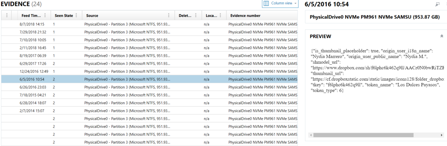 Initialization vectors: Profiling user activity in Dropbox
