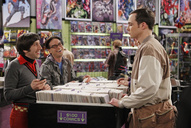 the big bang theory sheldon comic book store