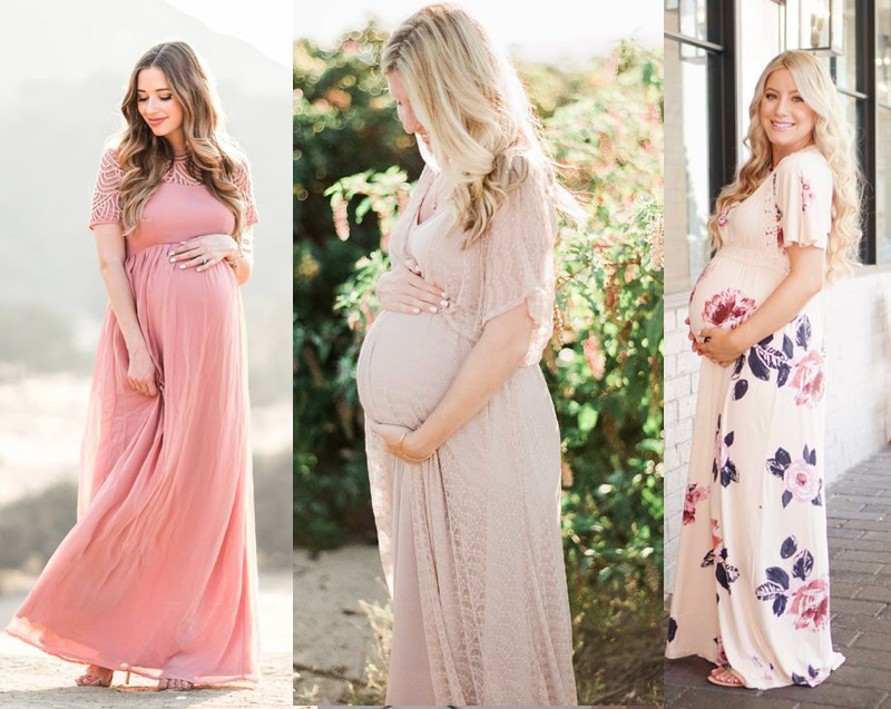 b24aae085 Pregnant women look stunning in maxi dresses- and we sure are comfortable  in them. These are a great option if you want to hide you swollen ankles  and want ...