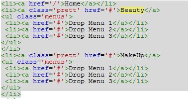 script menu navigasi galaxo