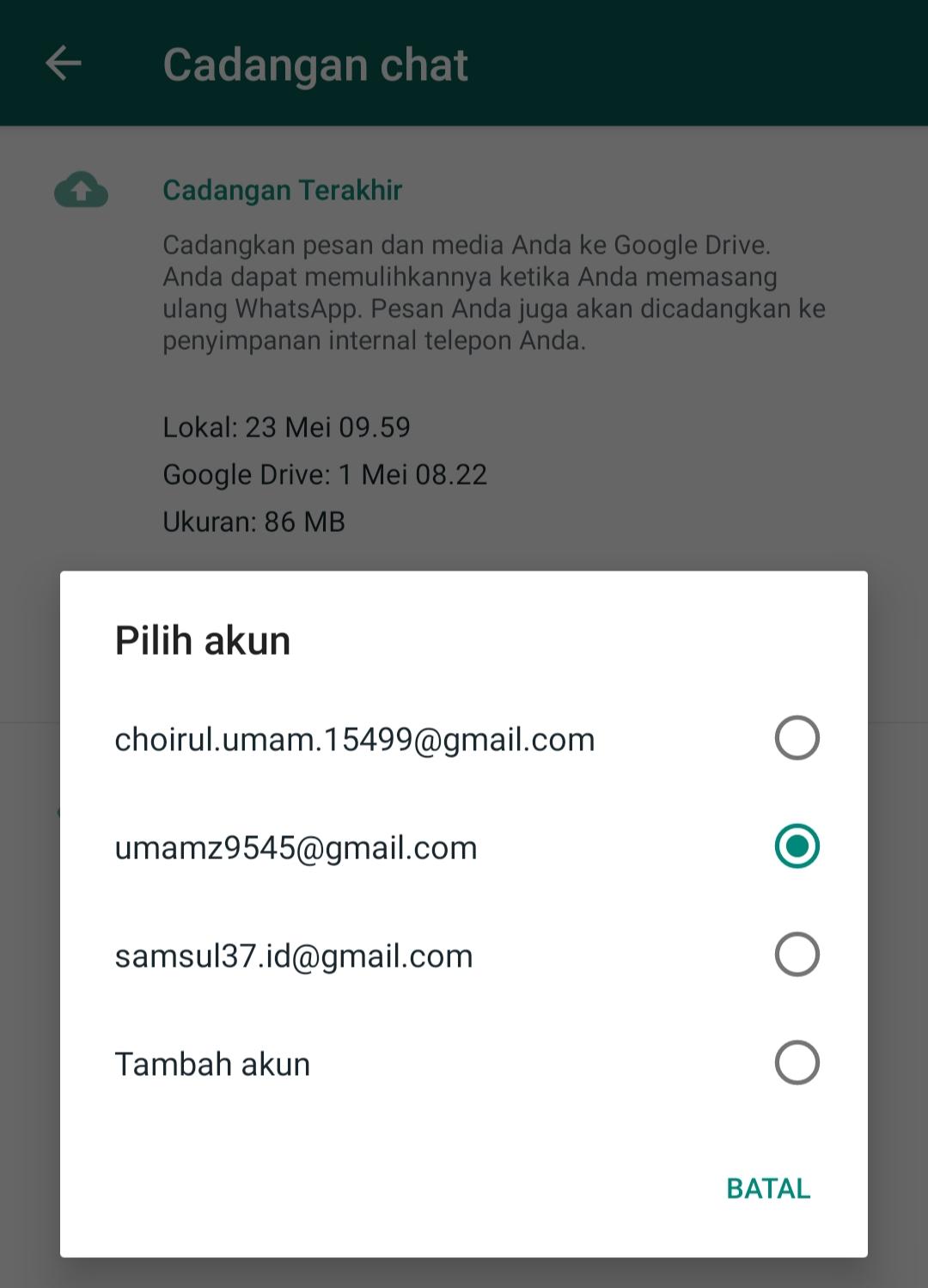 Cara Memindahkan Whatsapp ke HandPhone Lain