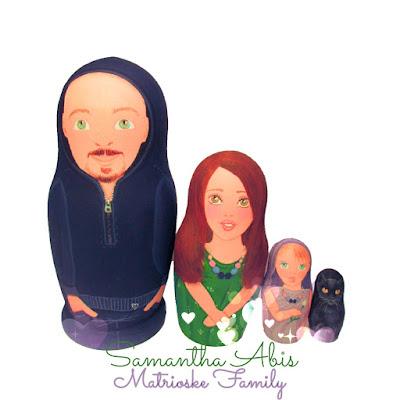 Matrioske family personalizzate