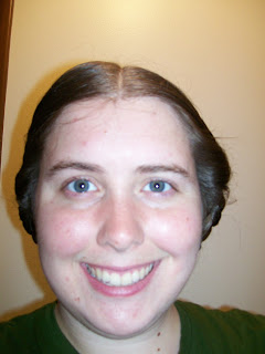 Side braids with rolls, two methods.