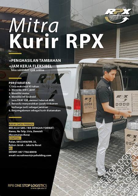 lowongan kerja KURIR RPX Jakarta