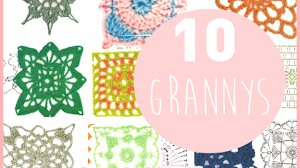 10 patrones de grannys tejidos al crochet / cuadros / squares