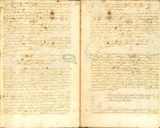 Cartas compiladas, 19/10/1722. Acervo Arquivo Nacional.