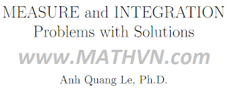 bai tap do do va tich phan, MEASURE and INTEGRATION Problems with Solutions