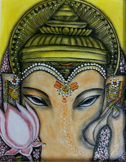 Faces & Pillars An exhibition of paintings by Sita Sudhakar